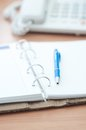 Personal Organizer And Pen On Office Desk Stock Photos - 45607283