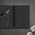 Blank Dark Note Book Royalty Free Stock Images - 45626939