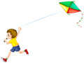 Boy And Kite Stock Photography - 45629322