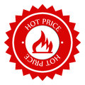 Hot Price Label Royalty Free Stock Photo - 45637745