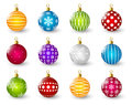 Set Of Color Christmas Balls Stock Image - 45644561
