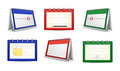 Calendars And Organizers In Various Colors Royalty Free Stock Photography - 45645317