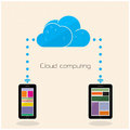 Flat Cloud Technology Computing Background Concept. Data Storage Stock Images - 45645814