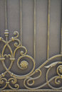 Luxury Wrought Iron Fence Detail Royalty Free Stock Photography - 45656607