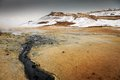 Namaskard Geothermal Active Volcanic Area In North West Iceland Royalty Free Stock Image - 45661636