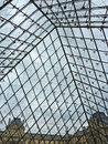 Under The Louvre Pyramid Stock Images - 45666674