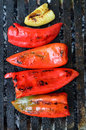 Peppers On Grill Stock Images - 45699744