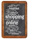 Shopping Online Word Cloud Stock Images - 45700194