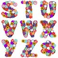 Alphabet With Flowers On White Background Royalty Free Stock Images - 45703509