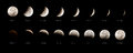 Lunar Eclipse Sequence Royalty Free Stock Photo - 45704745