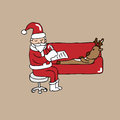Santa Psychiatrist And Reindeer Royalty Free Stock Photography - 45710127