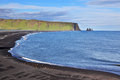 Huge Arched Beach With Black Sand Stock Images - 45710664