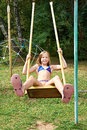 Girl Swinging On A Swing Stock Image - 45714671