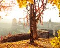 Autumn Landscape On The Background Of The Fortress Stock Photography - 45715582
