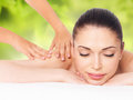Woman Having Massage Of Body In Nature Spa Stock Image - 45718141