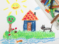 Drawing Oil Pastels Royalty Free Stock Images - 45720369