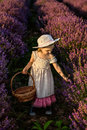 Lavender Girl Royalty Free Stock Photography - 45722047