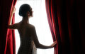 Red Curtains Royalty Free Stock Photo - 45722415