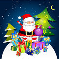 Santa Claus With Gifts Stock Images - 45727314
