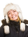 Winter Vacation. Cheerful Girl In Warm Clothes. Stock Image - 45745171