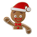 3d Character, Cheerful Gingerbread, Christmas Funny Decoration, Stock Image - 45759321