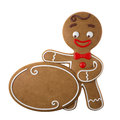3d Character, Cheerful Gingerbread, Christmas Funny Decoration, Royalty Free Stock Photo - 45759345