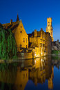 Night View Of The Old Town Of Bruges (Belgium) Royalty Free Stock Photos - 45763148