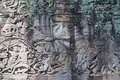 Fresco Angkor Wat/ Angkor Thom. The Ancient Ruins Of A Historic Stock Photography - 45764952