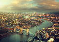London Aerial View With  Tower Bridge Royalty Free Stock Photos - 45767848