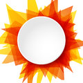 Abstract Sun Illustration, Vector Round Template Background Royalty Free Stock Photos - 45769798
