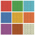 Set Of 9 Knitted Wool Colorfull Seamless Patterns Stock Photography - 45775262