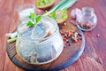 Herring In Glass Bank Royalty Free Stock Images - 45781709