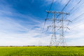 Power Lines And Pylons In A Rural Landscape Stock Photography - 45784052
