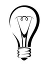 Light Bulb. Vector Black Silhouette. Royalty Free Stock Photography - 45786697