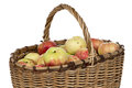 Image Of Wicker Basket Wih Apples Stock Photography - 45796732