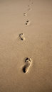 Footprints In The Sand Stock Images - 45806724