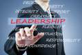 Businessman Hand Pushing Leadership Button Royalty Free Stock Photography - 45808827