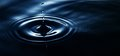 Droplet In The Water Royalty Free Stock Images - 45817309