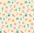Hairstyling Fashion And Makeup Seamless Pattern Royalty Free Stock Photo - 45817555