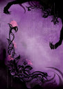 Horror Background With Grunge Flowers And A Spider Web Royalty Free Stock Image - 45826176