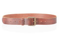 Brown Leather Belt With Buckle Stock Images - 45826794