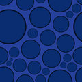 Dark Blue Background With Round Shapes, Seamless Stock Photo - 45831100