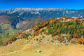 Autumn Landscape,Zarnesti Gorge And Piatra Craiului Mountains,Transylvania,Romania Royalty Free Stock Photos - 45831898