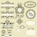 Vintage Ornaments And Frames, Vignettes, Calligraphic Design Stock Photography - 45836492