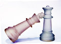 Glass Chess Pieces Stock Image - 45836531