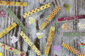 Handmade Clothespins And Hearts Stock Images - 45839554