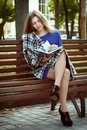 Beautiful Girl Reading A Book Stock Photography - 45842492