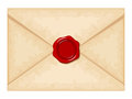 Envelope With Red Wax Seal. Vector Illustration. Royalty Free Stock Photos - 45846158