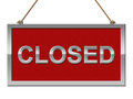 Closed Sign Represents Shut Down And Advertisement Stock Photos - 45846223