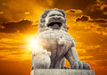Chinese Imperial Lion Statue Stock Image - 45854751